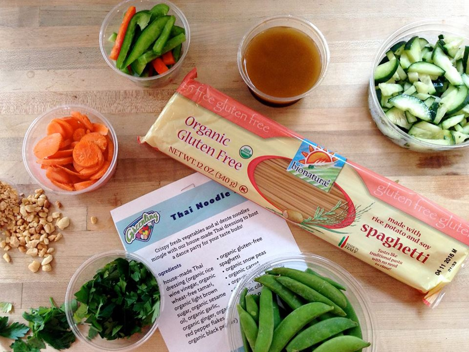 Greenling pasta and veggies with Thai noodle soup recipe