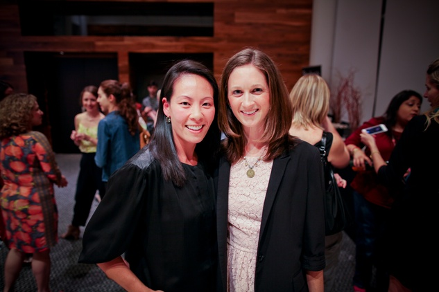 Ting Bresnahan, left, and Marina Willets at the Houston Ballet Center for Dance's Ballet and Bubbles October 2013