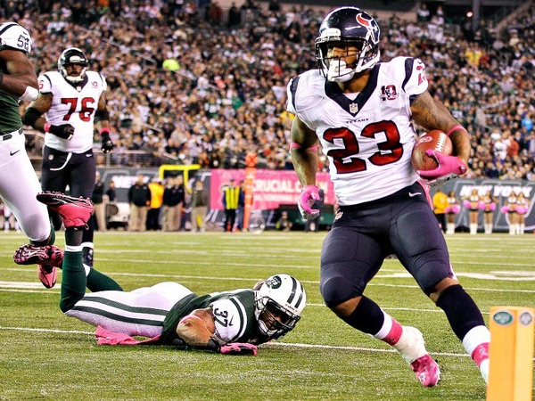 Arian Foster, Houston Texans, Jets, football game, October 2012