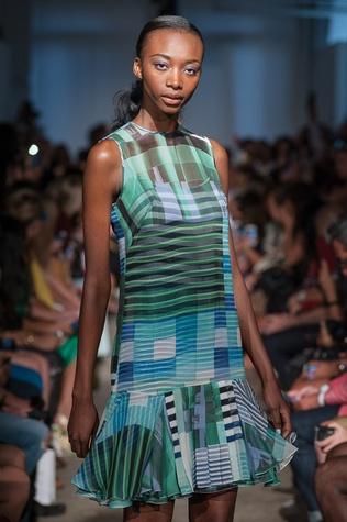 Rolando Santana print dress