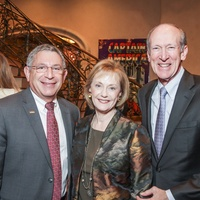 Men of Distinction dinner, Feb. 2016, Dr. Paul Klotman, Jeri Shapiro, Marc Shapiro