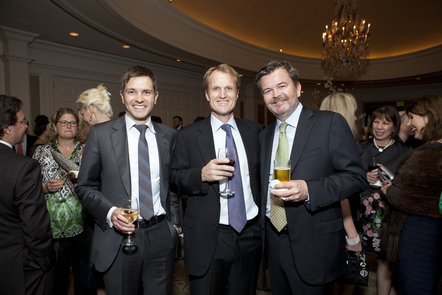 Kristian Lier, from left, Torjus Berge and Hugo Sand at the SIRE Under the Stars event April 2014