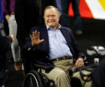 george hw bush wheelchair