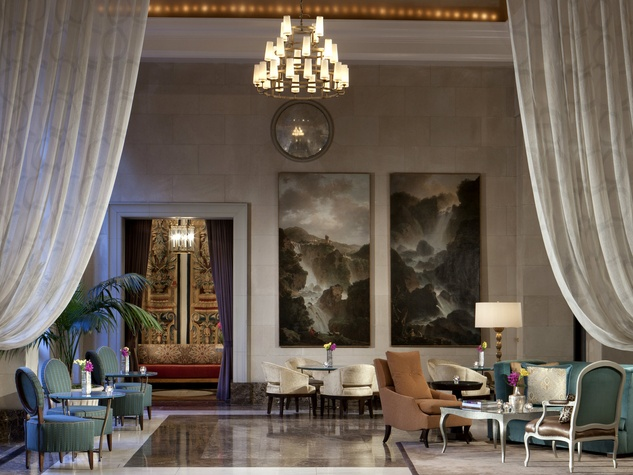 Lobby at Rosewood Crescent Hotel in Dallas