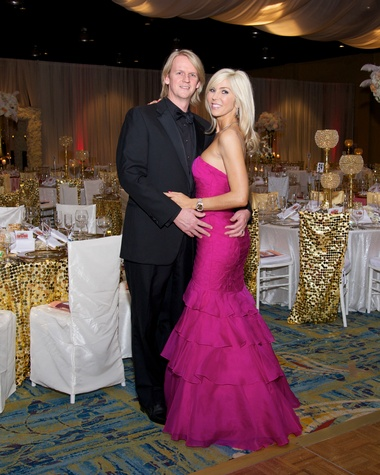 10 8068 Dr. Mark Mettauer and Marissa Mettauer at the American Heart Association's Montgomery County Heart Ball February 2015