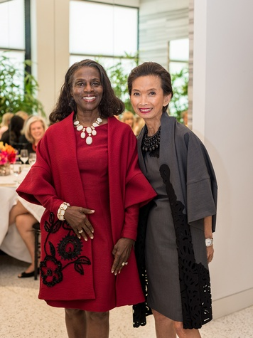 10 Clarease Yates, left, and Josie Natori at the Foundation for Teen Health Tootsies luncheon September 2014