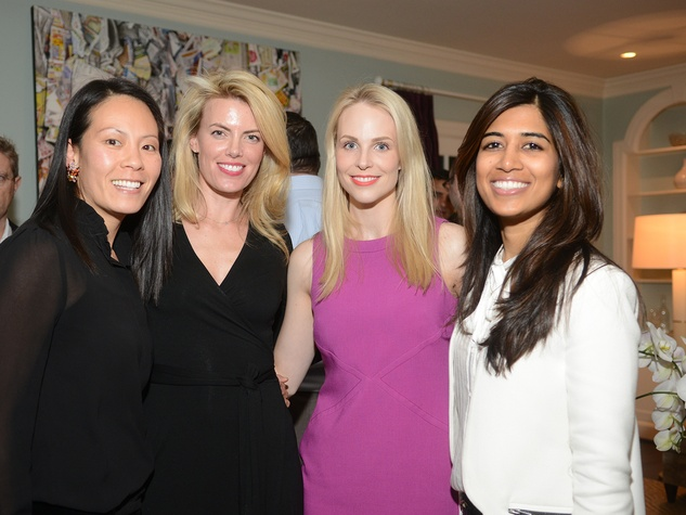 Ting Bresnahan, from lelft, Katie Flaherty, Kathleen Jennings and Divya Brown at the JDRF gala kick-off party January 2014