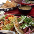 Torchy's Tacos on picnic table