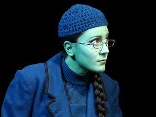 Dee Roscioli as Elphaba in the national tour of Wicked