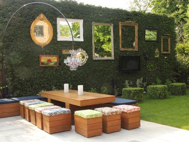Houzz Rustic Chic Garden Backyard