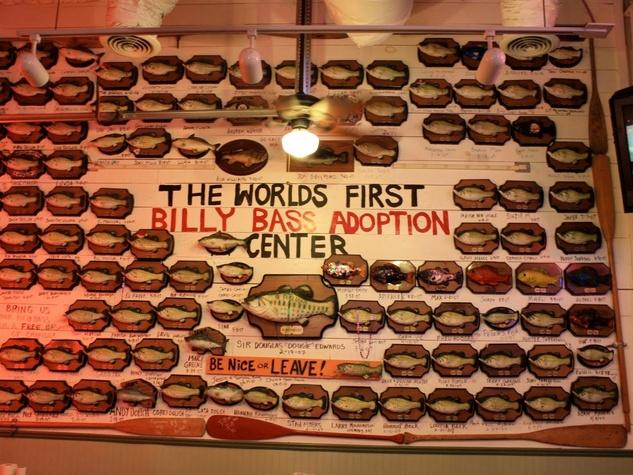 Flying Fish catfish restaurant Billy Bass adoption