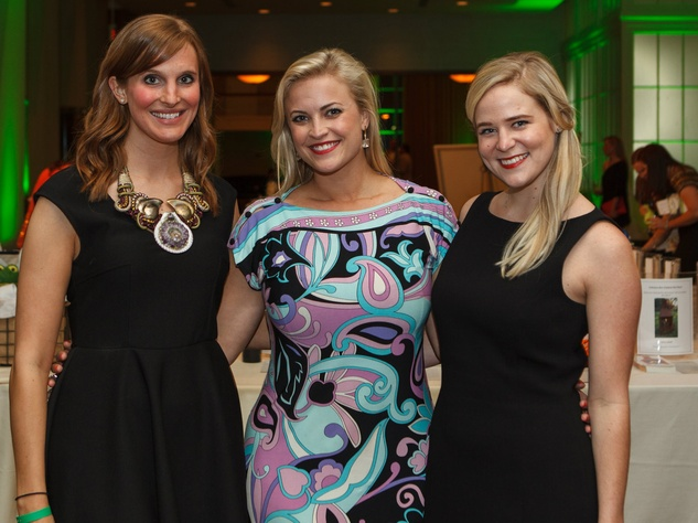 Lindsey Goodier, Nina Tollett, Louisa Oberman, RMH Young Friends Party