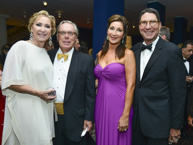 11 Carol and Mike Linn, from left, with Soraya and Scott McClelland at the MFAH Grand Gala Ball October 2013