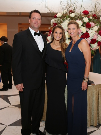 9 Houston Wine & Roses Gala May 2013 Kurt Hahnfeld, Madeline Hahnfeld, Mary Elizabeth Hanhfeld