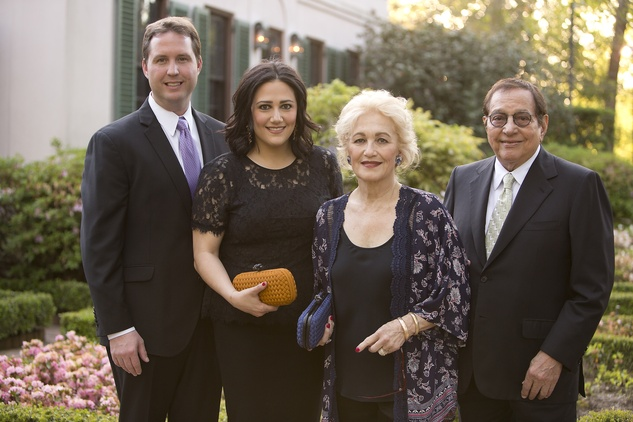 Todd Forester and Kelli Kickerillo, from left, and Mary and Vincent Kickerillo at the Bayou Bend Garden Party March 2015