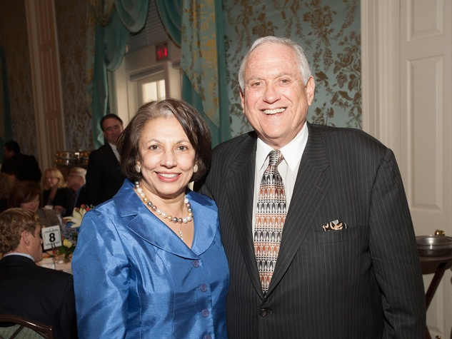 Fatima Mawji and Arthur Schechter at the Interfaith Ministries luncheon January 2014