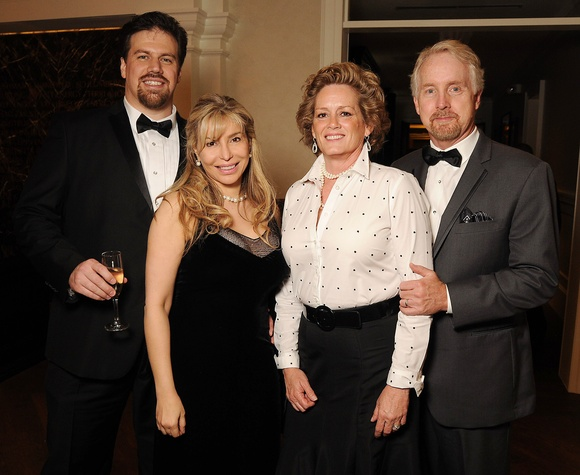 3 David and Maryam Cooley, from left, and Jayne and Rex Richardson at the Petroleum Club of Houston Grand Opening Celebration February 2015