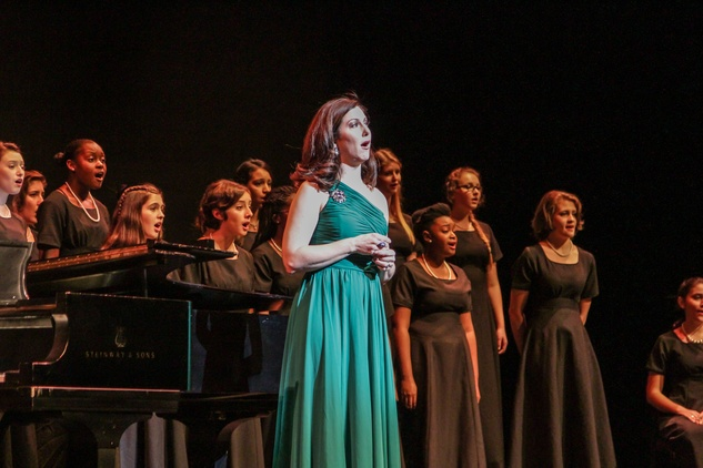 Camille Zamora singing with the High School for Performing & Visual Arts Chorale at the Bering Omega's Sing for Hope Event October 2014