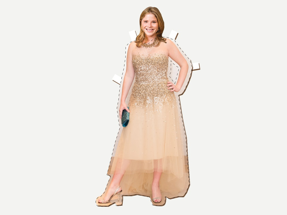 What would Jenna Bush wear paper doll with gown November 2013 HORIZONTAL