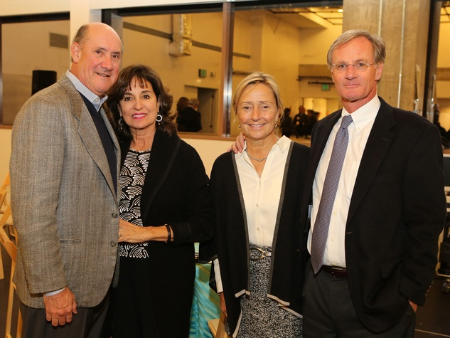 Ken and Mady Kades, from left, and Connie and Roger Plank at the Alley Theatre Opening Night Dinner January 2014
