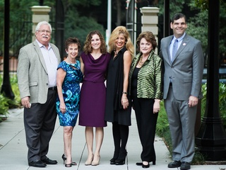 Dan Leightman, Evelyn Leightman, Rabbi Adrienne Scott, Sofia Adrogue, Beth Wolff, Ed Wolff