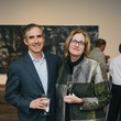 Doug Lawing and Jean Ellis at the Charles James exhibit preview party at the Menil June 2014