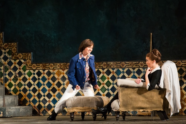 HGO Marriage of Figaro, Jan. 2016. Lauren Snouffer, Cherubino; Heidi Stober, Susanna