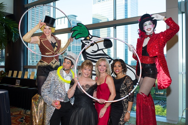 1 Jo Ann Petersen, from left, Cheryl Boblitt and Angela James at the Covenant House Gala March 2015