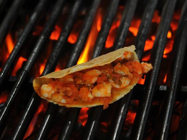 Grilled taco at Lazaranda restaurant in Dallas