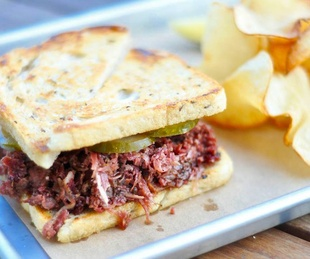 Story of Texas Cafe pastrami sandwich