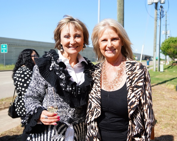 Constance McDerby, left, and Jeannie Bollinger at the BMW West groundbreaking party April 2014