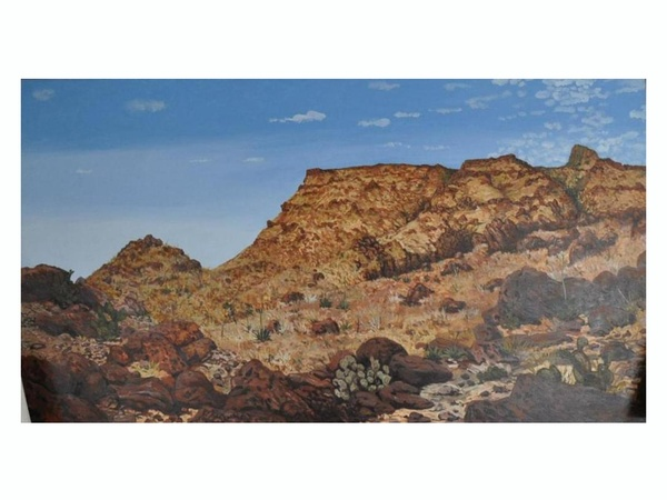 News_La Colombe d'Or Art Gallery_May 2012_Earl Staley_Big Bend_oil on canva