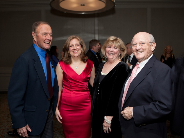 Dick Gould, from left, Lara Lehmann, Cheryl Hultquist-Horvath and Danny Stephens at the Houston Tennis Association Gala February 2014