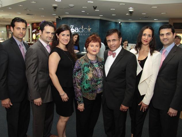 3349, Zadok Jewelers, grand wedding band event, March 2013, Jonathan, Gilad, Lisa, Helene, Dror, Amy and Segev Zadok