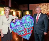 Art of Heart April 2013 Valerie Gibbs with Randy Walker