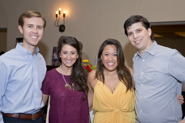 Chad Stephenson, from left, Beth Davis and Allison and Mack Schaffer at the Camp for All event September 2014