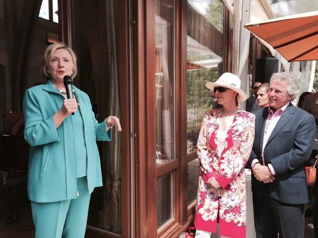 News, Shelby, Aspen, Hillary Clinton, Beverle and Marc Ostrofsky
