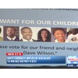 Dave Wilson campaign brochure with all African-America people in flyer