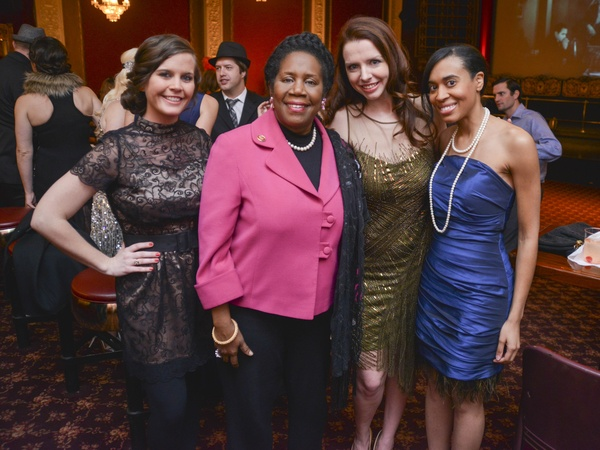 01, HYPA Gala, February 2013, Katy Pease, Sheila Jackson Lee, Heather Pray, Hannah Thibodeaux