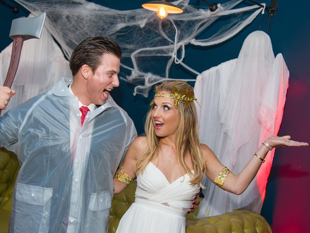 Chris Wadley and Katherine Whaley at the St. Luke's PULSE Saints & Sinners Halloween party October 2013