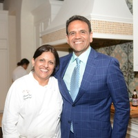 6 Chef Kiran Verma and Al Ross at the Recipe for Success Open Kitchens kick-off June 2014