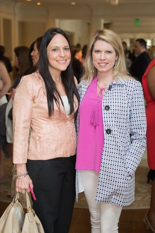 3 Monica Huffman, left, and Courtney Toomey at the Children's Museum Friends Families Luncheon March 2015