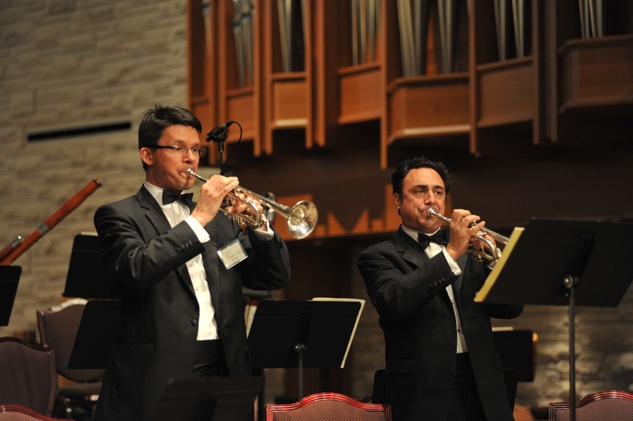 River Oaks Chamber Orchestra Big Bang percussion concerto trumpets