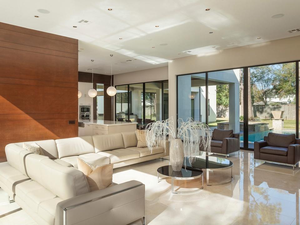 Houston Modern Home Tour September 2014 821 Bunker Hill 2Scale Architects living room