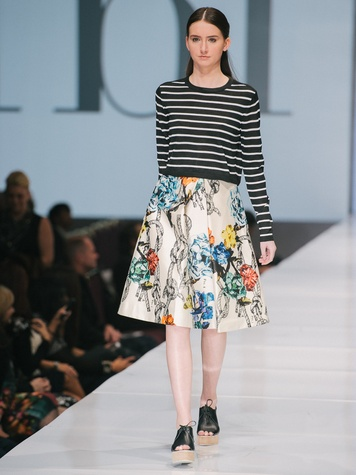 Look from Tibi at Fashion Houston Sept 2014