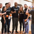 Kenny Smith at 3 point challenge at Houstonian with winners