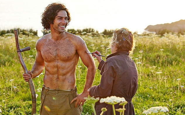 Aidan Turner in Poldark shirtless