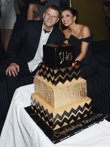 Tilman Fertitta, Eva Longoria, SHe opening, February 2013