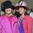 2 Gracie Cavnar, left, and Jessica Rossman at Hats in the Park March 2014