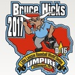 Houston, Bruce Hicks Little League umpire, August 2017, Little League pin